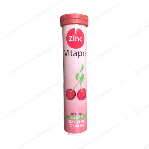 قرص جوشان زینک و ویتامین ث ویتاپرا