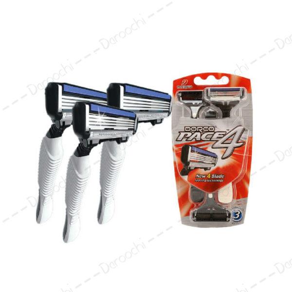 High-quality-Dorco-Pace-4-Razor-Men-3-Pcs-lot-4-Layer-Blades-Razor-for-Men