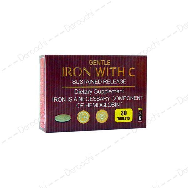 قرص آهن و ویتامین ث | bronson iron with c