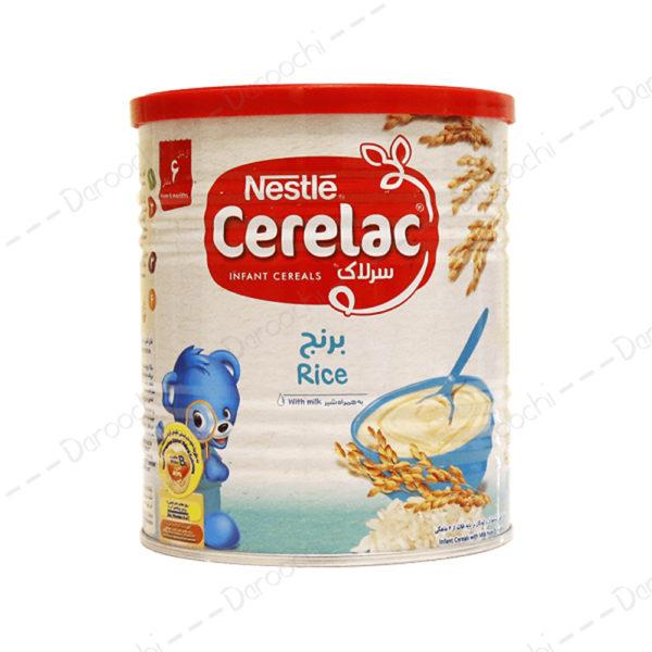 سرلاک برنج همراه شیر 6 ماهگی