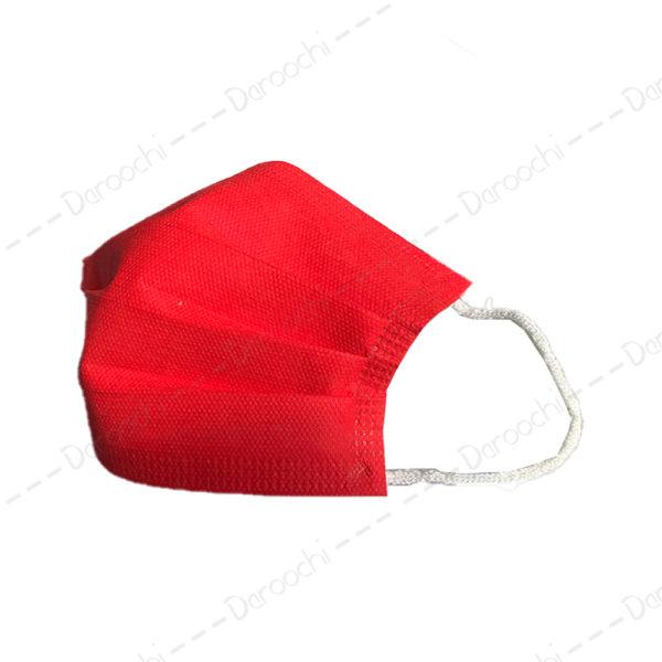 ماسک سه لایه قرمز