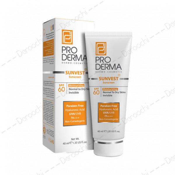 proderma sunvest sunscreen spf60