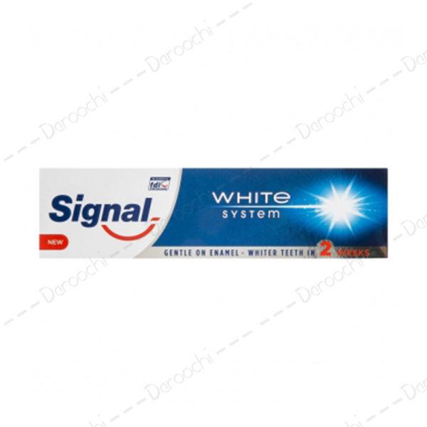 خمیر دندان سیگنال سفید کننده